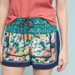 Anthropologie Hei Hei Lotus Floral Printed Shorts